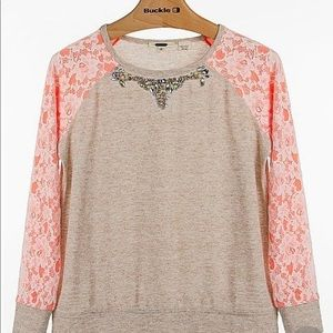 Miss Me Lace Pullover Sweater